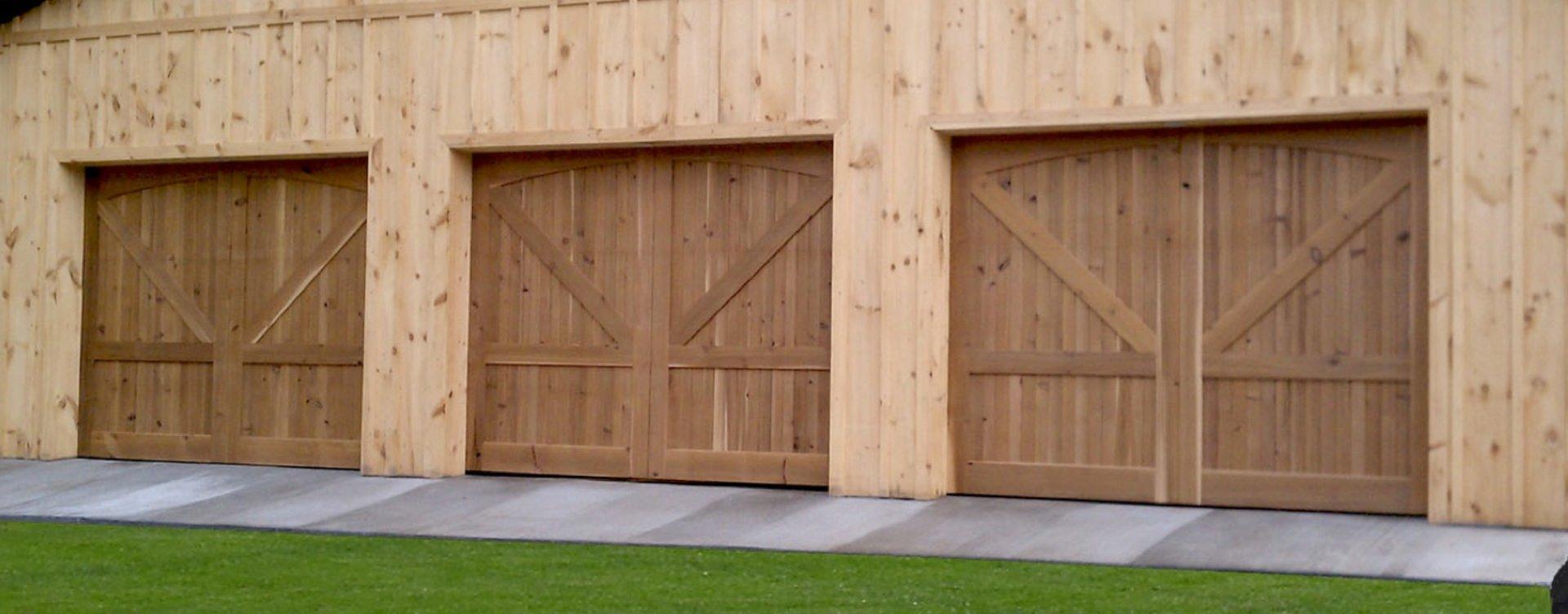 Custom Wood Sectional Door